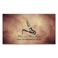 Elegant Business Card design aimed at Jass Musicians/Bands/Clubs and Music Teachers