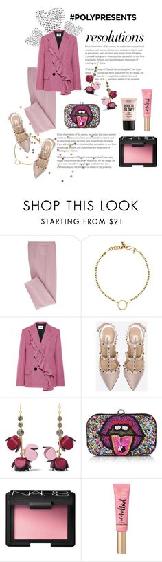 """""""#PolyPresents: New Year's Resolutions"""" by gizaboudib on Polyvore featuring moda, MSGM, Valentino, Marni, From St Xavier, NARS Cosmetics, Too Faced Cosmetics, NYX, contestentry y polyPresents"""