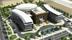 Najaf city council (Dewan) Healthcare Architecture, Hotel Architecture, Futuristic Architecture, Architecture Design, Architecture Model Making, Architecture Concept Diagram, School Building Design, Urban Design Plan, Hospital Design