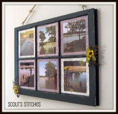 Scout's Stitches: Distressed Window Frame Picture Frame