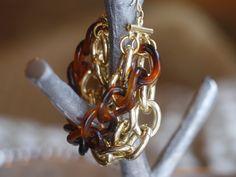 gold and tortoise link bracelet