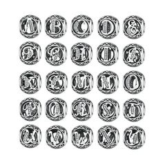 Authentic 925 Sterling Silver Vintage A-Z Letter Alphabet Charms Fit Original pandora Charm Bracelets & Bangles Silver Jewelry Bracelet Pandora Charms, Silver Charm Bracelet, Silver Bracelets, Pandora Jewelry, Alphabet Charms, Letter Charms, Silver Beads, Silver Charms, Silver Jewelry
