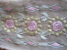 Antique Victorian Ribbon Net Lace Bag Drawstring Early | eBay