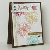 Picture of Hello, I love, love, love you card (WCMD challenges)