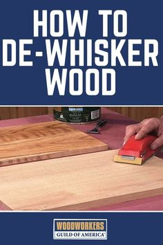 One of the problems with using water-based stains and finishes is that they tend to raise the grain on the wood surface, leaving it rough. George Vondriska shows a great way to avoid raising the grain by de-whiskering your wood before staining or finishing. A WoodWorkers Guild of America (WWGOA) original video.