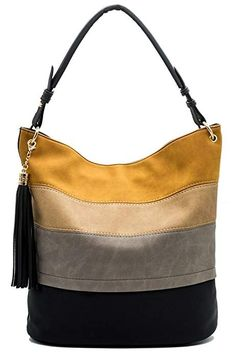 bbce320c483c Handbags for women totes Hobo Shoulder Bags Tassels Stripes Top Handle Bags  gift for valentine's day - Black - Bags, Hobo Bags