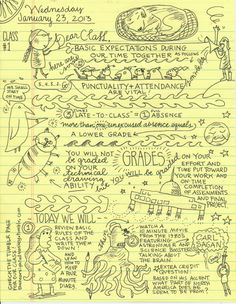 cartoonist Lynda Barry is teaching a university-level course on doodling and neuroscience that you can audit remotely for free. Class Syllabus, Syllabus Ideas, Lynda Barry, University Of Wisconsin, Arts Ed, Neuroscience, Art School, School Stuff, School Ideas