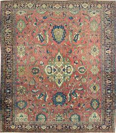 Persian Sarouk Farahan rug, 8'6 x 10'3, Circa 1880, Landry and Arcari gallery