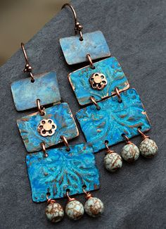 Earrings Everyday Textured Copper