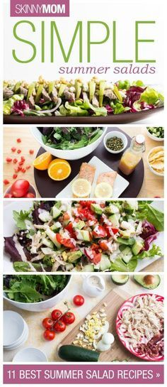 Looking for a healthy, summertime dinner you're bound to love?! Try one of these simple salad recipes!