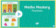 This exciting PowerPoint contains ideas for teaching fractions at greater depth to Year Each slide is a stand-alone activity to get the children thinking and reasoning about fractions. Mastery Maths, Fractional Number, Year 1 Maths, Irrational Numbers, Teaching Fractions, Classroom Displays, Numeracy, Hands On Activities, Math Resources