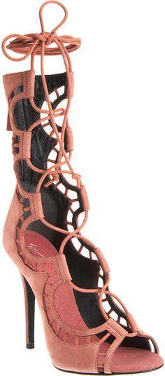 Giuseppe Zanotti Lace Up Scalloped Sandals