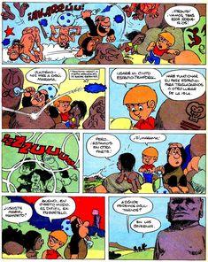 Los comics de Machete: Mampato y Ogú: Rapanui Peanuts Comics, Comic Books, Easter Island, Islands, Drawing Cartoons, Comic Book, Comics, Comic