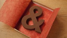 BYROSA —Chocography. Classic typeface alphabet made out of chocolate.