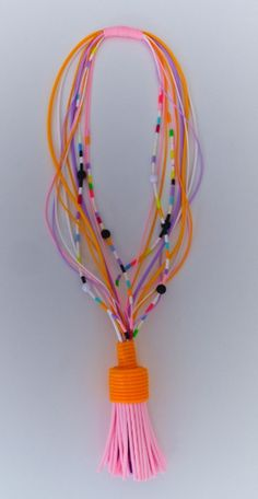 Blandine Bardeau necklace... love the melding of color!