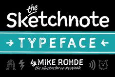The Sketchnote Typeface: Full Family by Rohdesign Studios Shop on @creativemarket