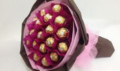 ferrero rocher paper flower bouquets - Google Search