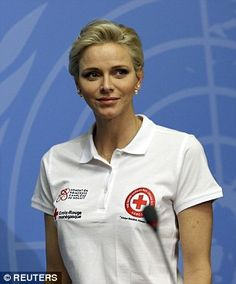 Princess Charlene, is an ambassador for an international first aid organisation, a cause she is passionate about as a former professional swimmer. She also attended a conference. New Fashion Trends, Fashion News, Trending Fashion, Fashion Fashion, Prince Albert, Professional Swimmers, Red Cross, Fashion Story, Teaching Kids