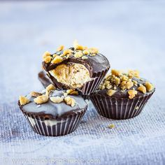 Chill out this summer with a batch of these super-delicious Frozen Peanut Butter Cups. Made with only 5 low-carb ingredients, these keto treats will satisfy your sweet tooth and ice cream cravings …