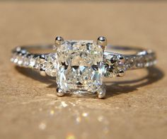 1.93 carats  RADIANT cut Diamond Engagement Ring  by BeautifulPetra, $7500.00 (I WANT!)