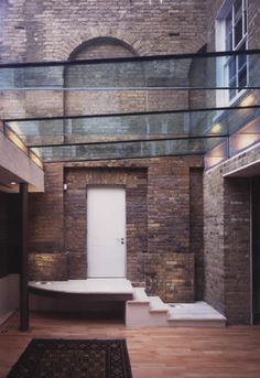 Gloucester Gate by Belsize Architects Old Building, Building A House, Internal Courtyard, Enclosed Patio, Architectural Services, Exposed Brick Walls, Grand Designs, Glass Roof, House Extensions