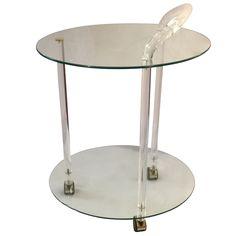 Midcentury Bar Trolley Lucite & Glass 1960s Bar Trolley. Measurements: W 50cm H 56cm.  For more information contact Emilia 07811008144 or emiliaporto@aol.com - £POA @alfiesantiques @timeoutlondon @elledecouk #antique #vintage #glass #furniture #design #interesting #ideas #interior #interiors #designer #architecture #home #decor #decoration #homedecor #interiordesign #house #Danish #table #Lucite #midcentury #modern #trolley #bar #italian