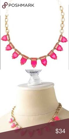 2d1751861435 Shop Women s Stella   Dot Pink size Adjustable Necklaces at a discounted  price at Poshmark. Description  Stella   Dot Eye Candy Necklace Hot Pink  Condition  ...