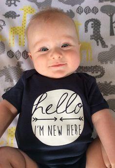 Hello, I'm New Here Baby Bodysuit | Jane