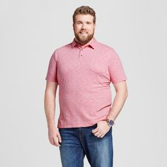Men's Polo Shirt Formal Pink 3XB Tall - Mossimo Supply Co.