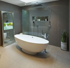 Bathroom design TV idea. Videotree mirror TV