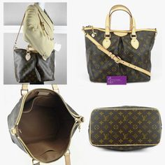 #Lv Palermo Pm Monogram Canvas With Leather Very Good Condition ref.code-(BVEKR-1)