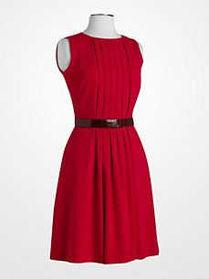 631ccd9dc6f Women s Dresses - Calvin Klein Red Dress - K Fashion Superstore