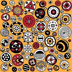 Circles This was a exercise to see if I could draw a page of circles that were different from each other. A smorgasbord of circles. Kenya Nairobi, Zen Art, Marker Pen, Adobe Illustrator, Circles, Exercise, Draw, Illustration, Pattern