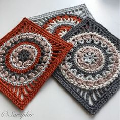 Large Flower Wheel Coaster Square A Free Crochet Pattern