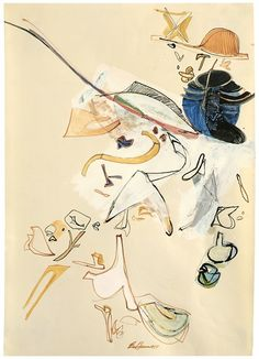 Eva Hesse Drawing — Calendar — Walker Art Center - no title, 1964 - Colored inks, watercolor, and gouache on paper 16 in. x 11 in. Eva Hesse, Yale School Of Art, Female Painters, Art Students League, New York Art, Gcse Art, American Artists, Painting & Drawing, Sketches