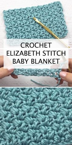 Crochet Elizabeth Stitch Baby Blanket – Easy Tutorial For Beginners + Free Video Guide The Effective Pictures We Offer You About crochet projects A. Tunisian Crochet Stitches, Crochet Afghans, Crochet Stitches Patterns, Crochet Patterns For Beginners, Baby Blanket Crochet, Easy Crochet Baby Blankets, Doll Patterns, Crochet Blanket Tutorial, Different Crochet Stitches