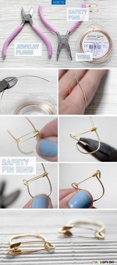 I Spy DIY: [My DIY] Safety Pin Ring