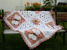 Butterfly and Flowers Baby Blanket Baby Shower Gift crochet on Wanelo