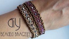 Bracelet   How to make bracelets   Beaded Bracelet   Beaded Bracelet Tutorial   Black Pearl - YouTube