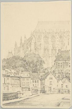 Apse of the Cathedral, Amiens Harvard Art Museum, Location History, Cathedral, Louvre, Drawings, Painting, Painting Art, Cathedrals, Sketches
