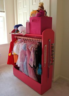 Diy dress up storage from a bookcase hack creative kids activities dress up storage puppet theater do it yourself home projects from ana white i solutioingenieria Gallery