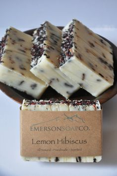 Lemon Hibiscus Soap All Natural Soap Handmade by EmersonSoapCO, $5.00