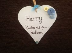 Personalised Baby boy plaque by Customsparkles2 on Etsy, £3.99