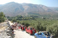 Jeepsafari tours through the Cretan mountains. From april to October, every day tours. Book online through our website www.hollandse-jeepsafari.com Crete, Day Tours, Walking Tour, Books Online, October, Island, Mountains, Website, Travel