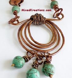 Wrapped Spiral and Howlite Dangles - love this soooo much.  Drat, where did I pack that jewelry hammer....