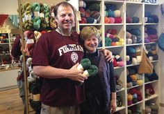Cat Bordhi and Jim at the Constant Knitter Yarn Shop, Cats, Gatos, Kitty Cats, Cat, Kitty, Serval Cats, Kittens