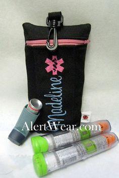 Items similar to Clip-On Inhaler / Epi-Pen / Auvi-Q Medicine Cases on Etsy