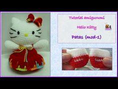 Tutorial amigurumi Hello Kitty - Patas (mod-1) (English subtitles) - YouTube