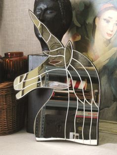 Vintage Unicorn Shaped Wall Mirror  Vintage by wilshepherd on Etsy, $58.00