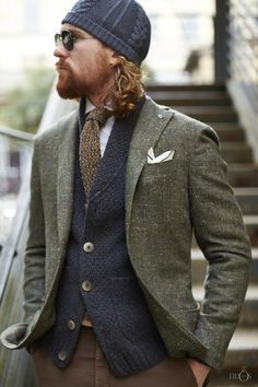 Great textures and color co-ordination.